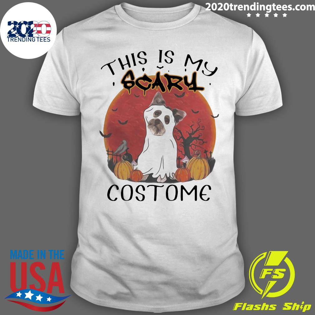 Halloween Yorkie This Is My Scary Costume Sunset Shirt