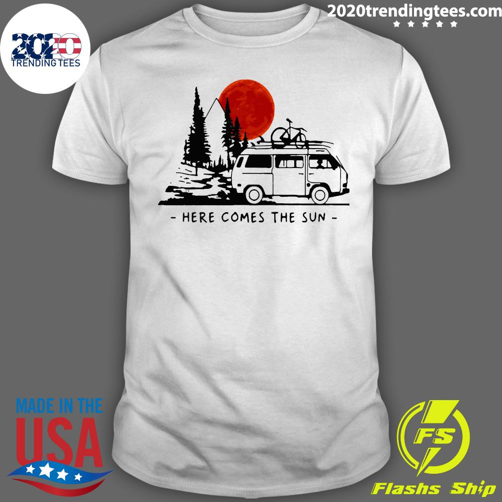 Here Comes The Sun Camping Life Camping Shirt