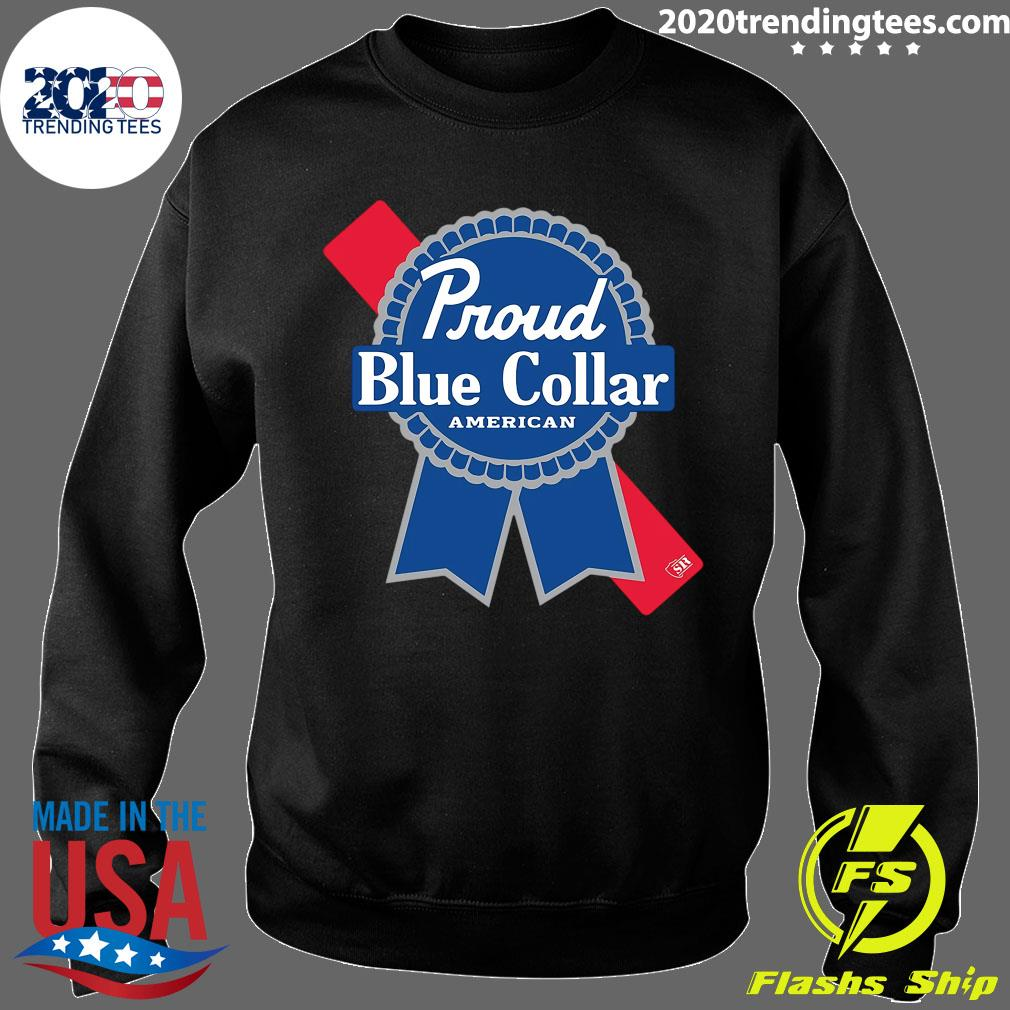 Proud Blue Collar American Shirt Sweater