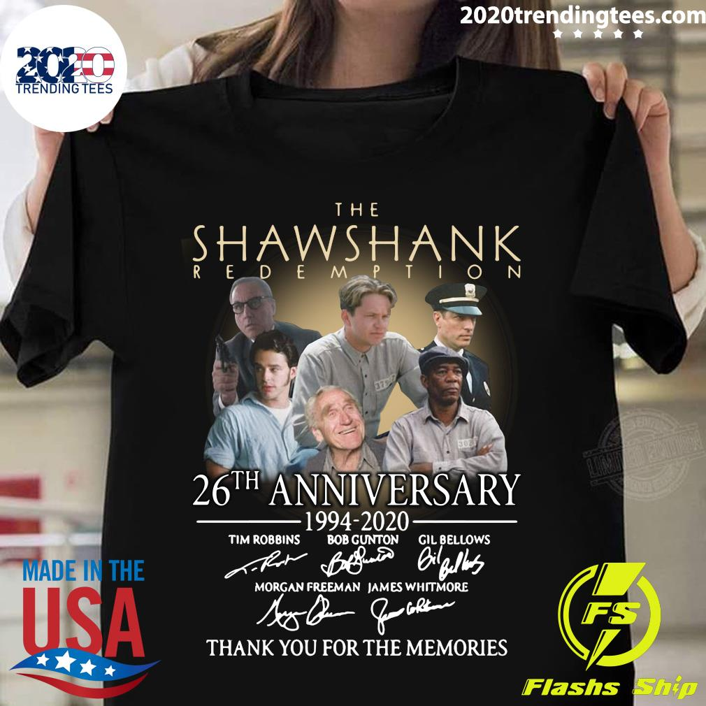 The Shawshank Redemption 26th Anniversary 1994 2020 Thank You For The Memories Signatures Shirt