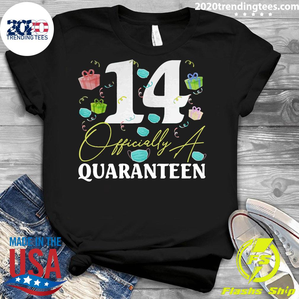 14th Birthday Officially a Quaranteen Teenager 14 Years Old Shirt Ladies tee
