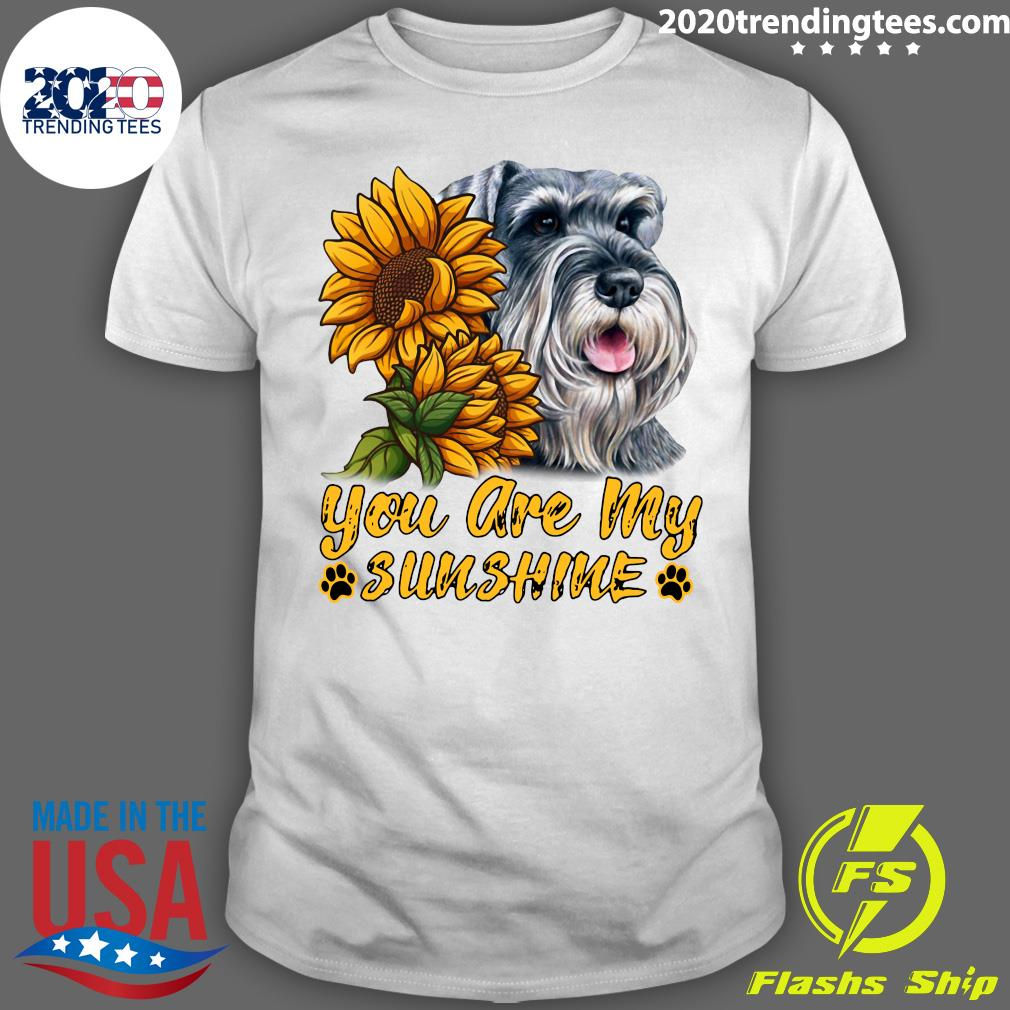 Dog Lovers You Are My Sunshine Schnauzer Gift Shirt