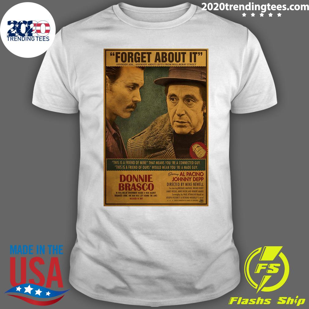 Donnie Brasco Al Pacino Johnny Depp Retro Movie Print Shirt