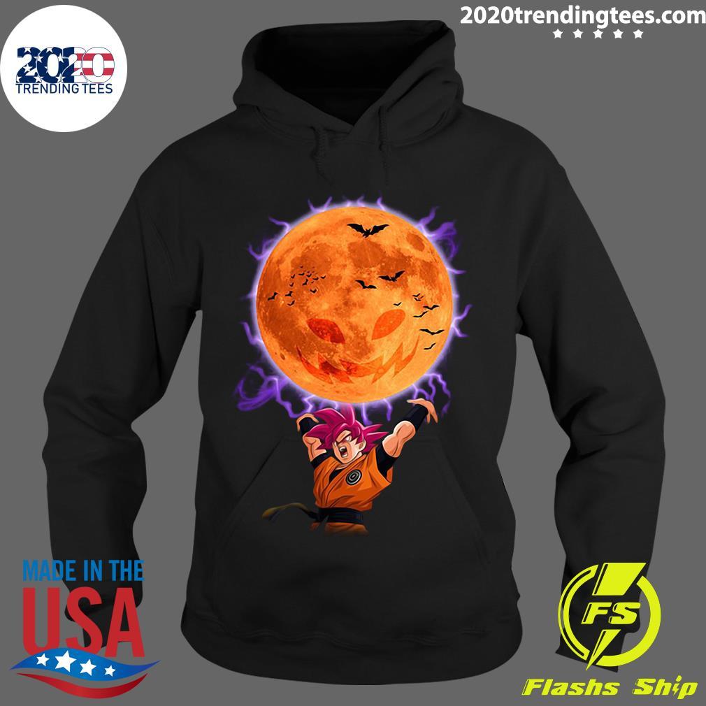 Dragon Ball Son Goku Super Saiyan God Genkidama Pumpkin Halloween Shirt Hoodie