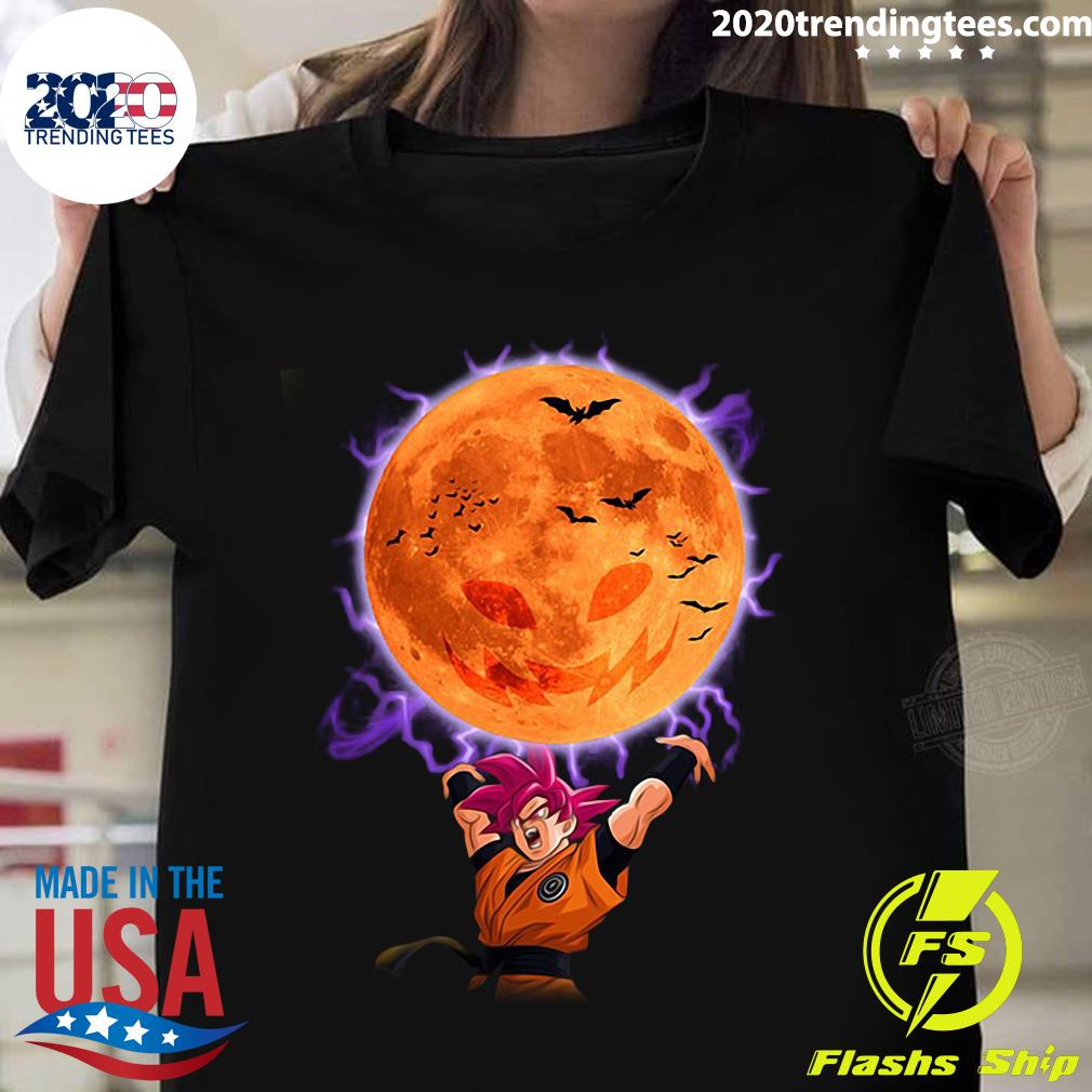 Dragon Ball Son Goku Super Saiyan God Genkidama Pumpkin Halloween Shirt
