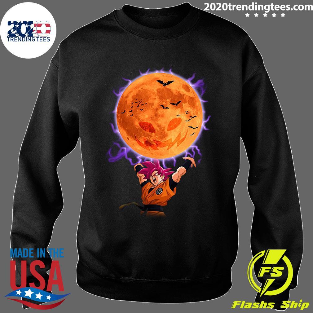 Dragon Ball Son Goku Super Saiyan God Genkidama Pumpkin Halloween Shirt Sweater