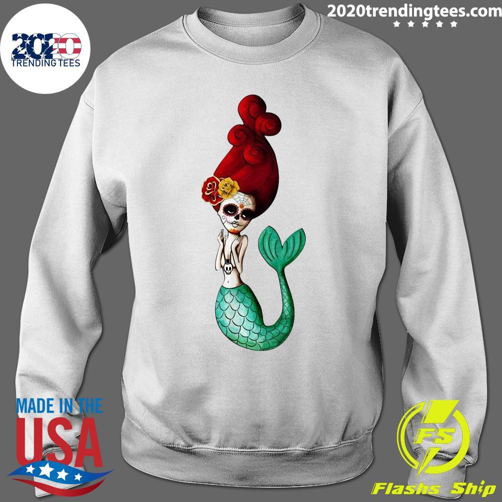 El Dia De Los Muertos Mermaid Day Dead Sugar Skull Shirt Sweater