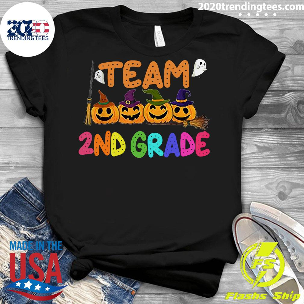 Halloween Team 2nd Second Grade Costumes For Student Shirt Ladies tee