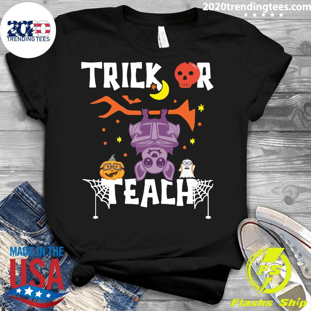 Halloween Trick Or Teach Teacher Hallowen Shirt Ladies tee