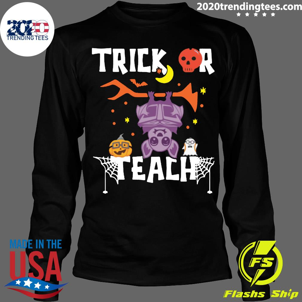 Halloween Trick Or Teach Teacher Hallowen Shirt Longsleeve
