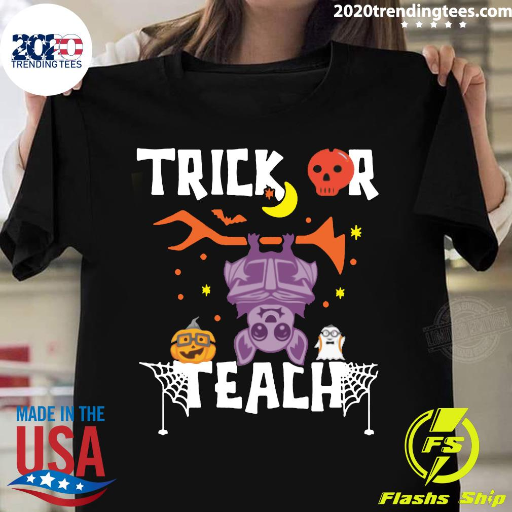 Halloween Trick Or Teach Teacher Hallowen Shirt