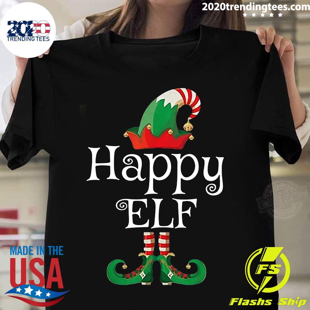 Happy Elf Costume Funny Halloween Christmas Gift Shirt