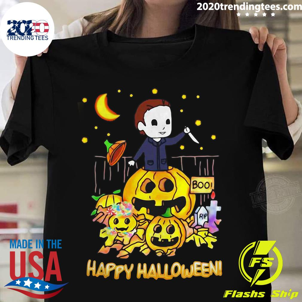 Happy Halloween Michael Myers Boo Pumpkins Shirt