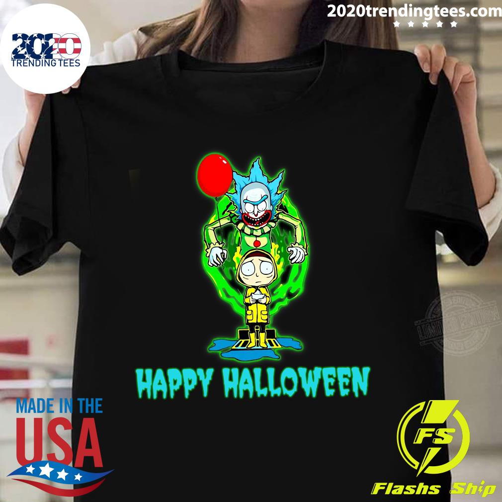 Happy Halloween Rick Sanchez And Morty Smith It Shirt