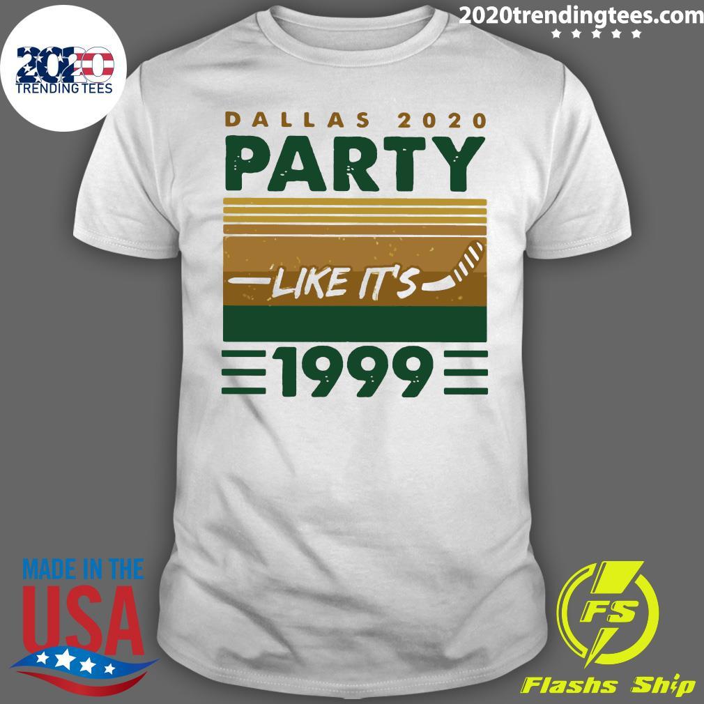 Hockey Dallas 2020 Party Like It's 1999 Vintage Retro Shirt