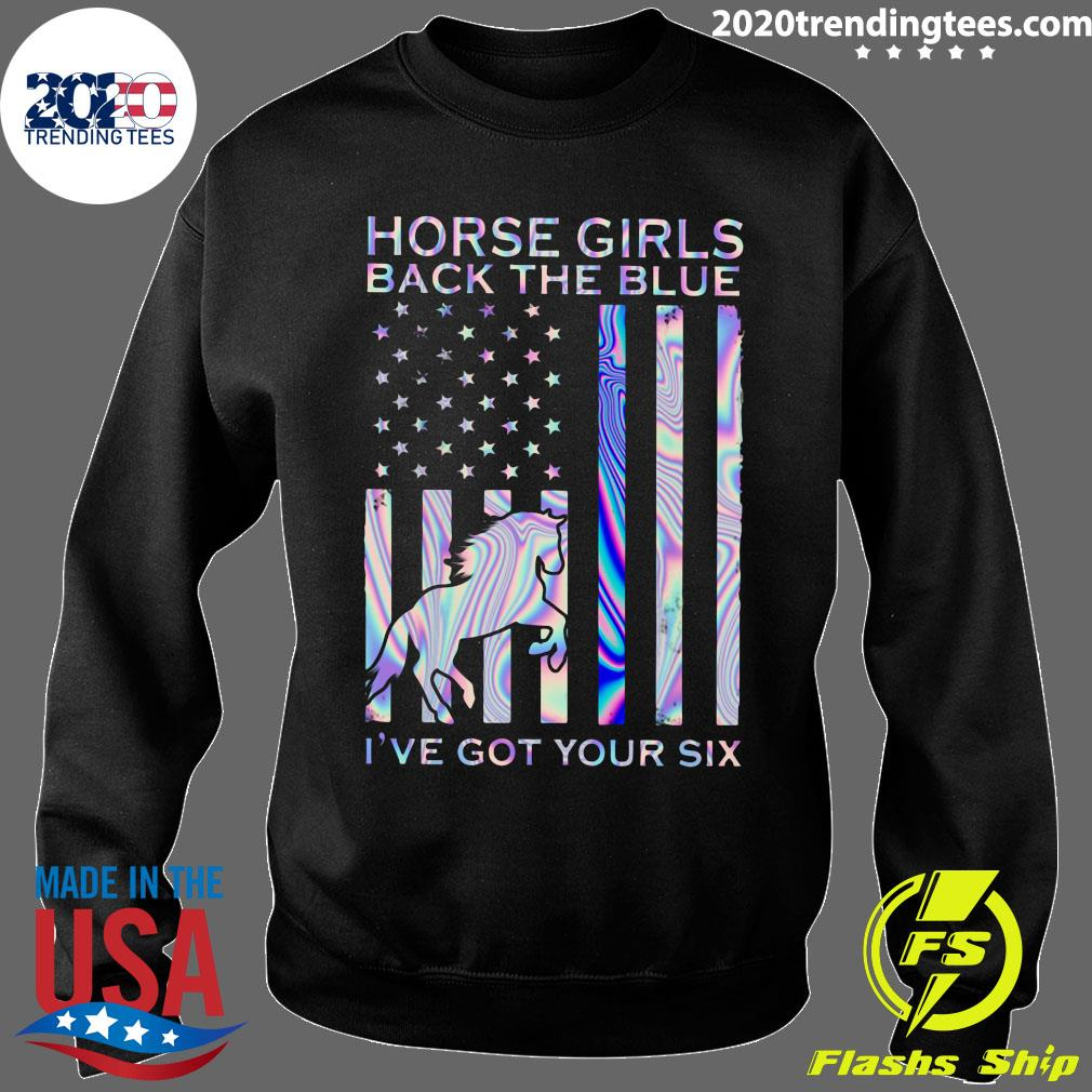 Horse Girls Back The Blue I've Got Your Six Shirt Sweater