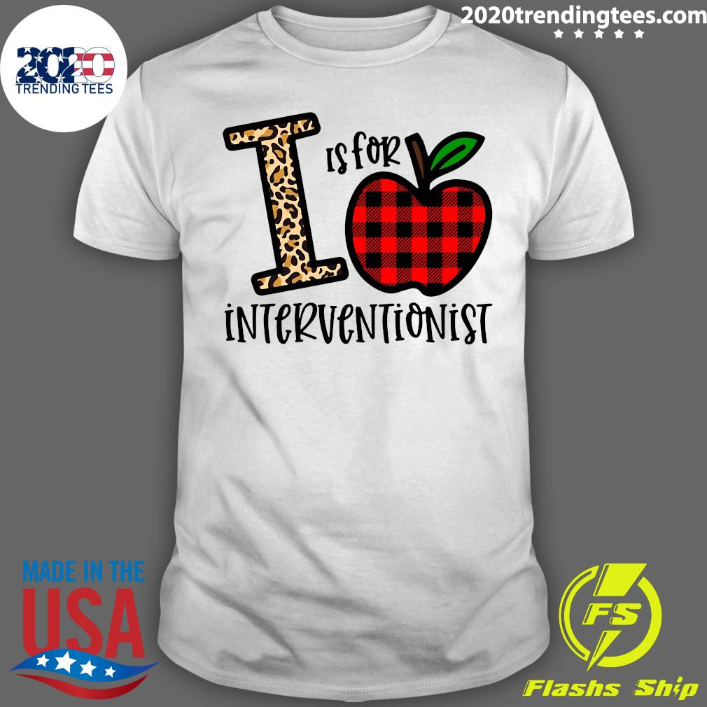 I Leopard Is For Teacher Interventionist Apple Shirt