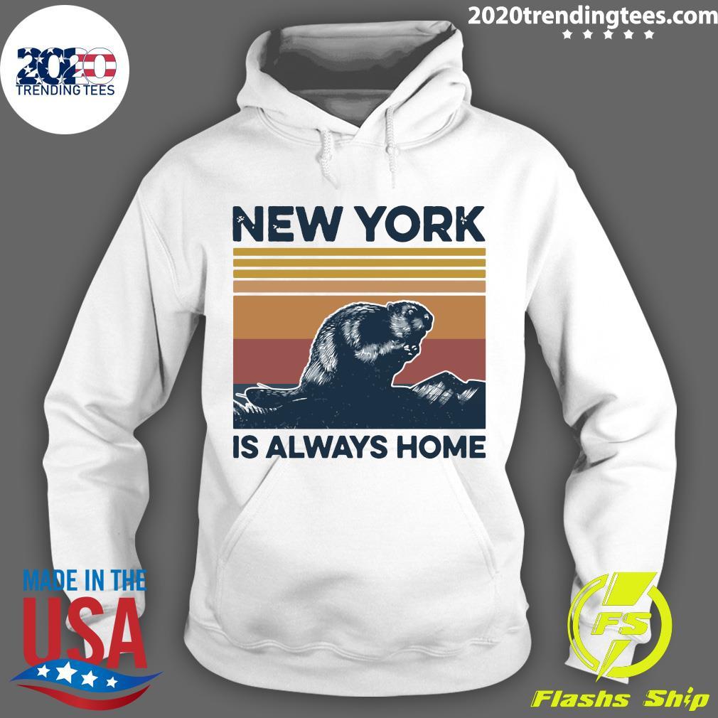 New York Is Always Home Vintage Retro Shirt Hoodie