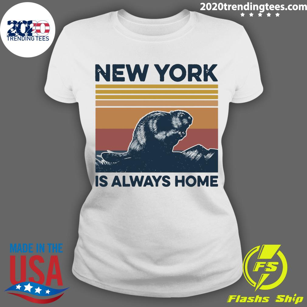 New York Is Always Home Vintage Retro Shirt Ladies tee