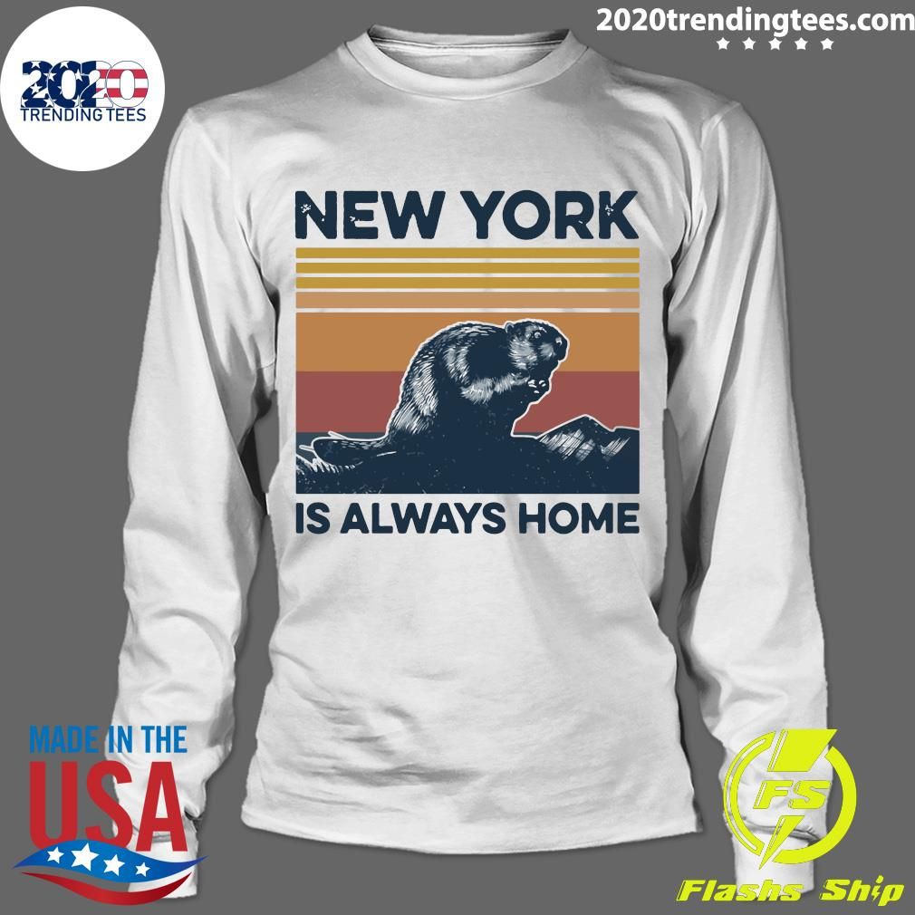 New York Is Always Home Vintage Retro Shirt Longsleeve