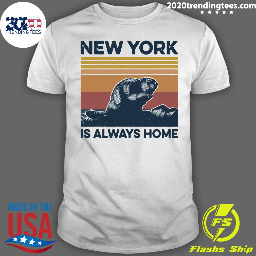 New York Is Always Home Vintage Retro Shirt