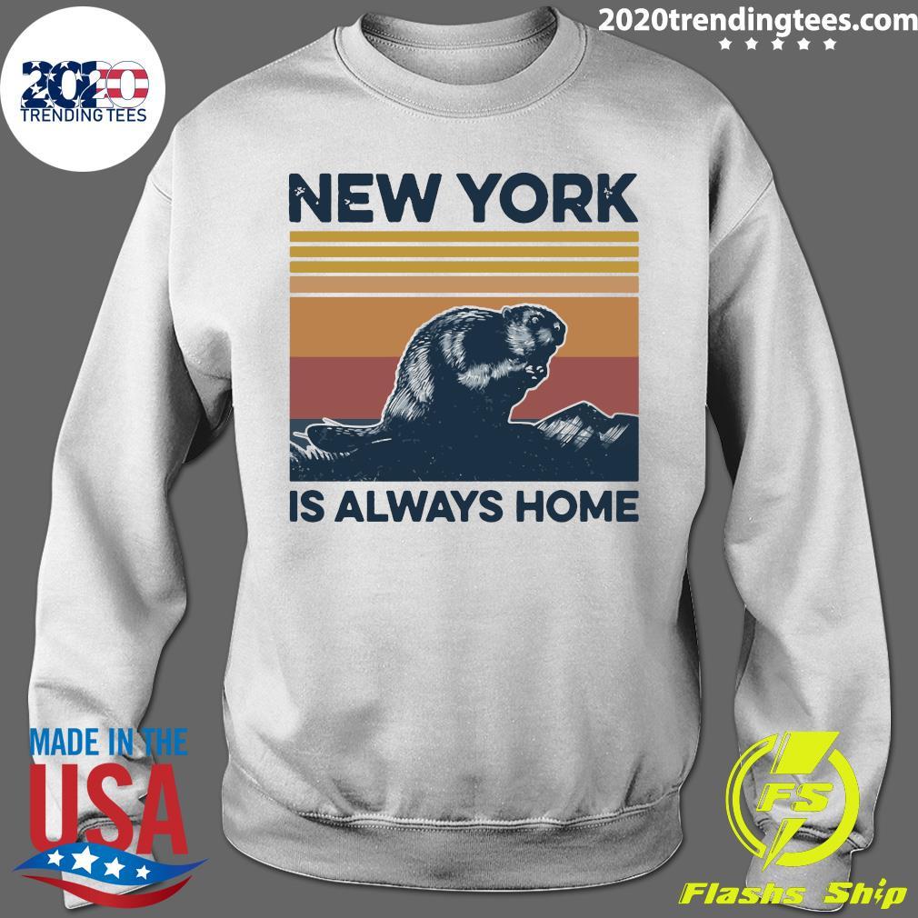 New York Is Always Home Vintage Retro Shirt Sweater
