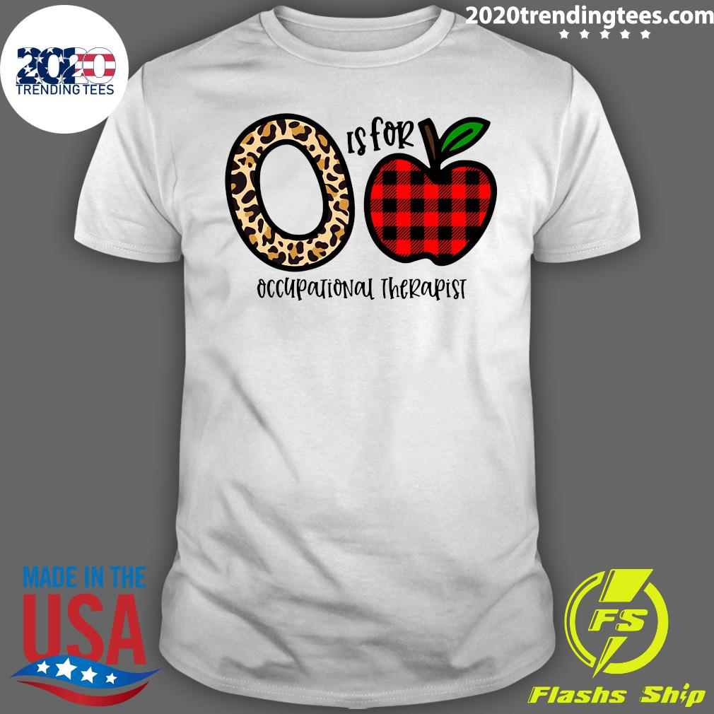 O Leopard Is For Teacher Occupational Therapist Apple Shirt