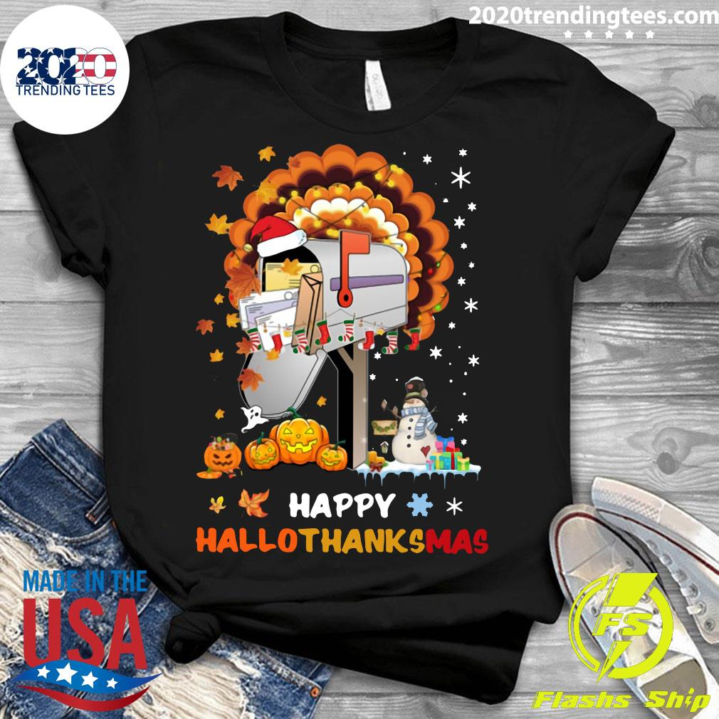 Postal Happy Hallo Thanksmas Shirt Ladies tee