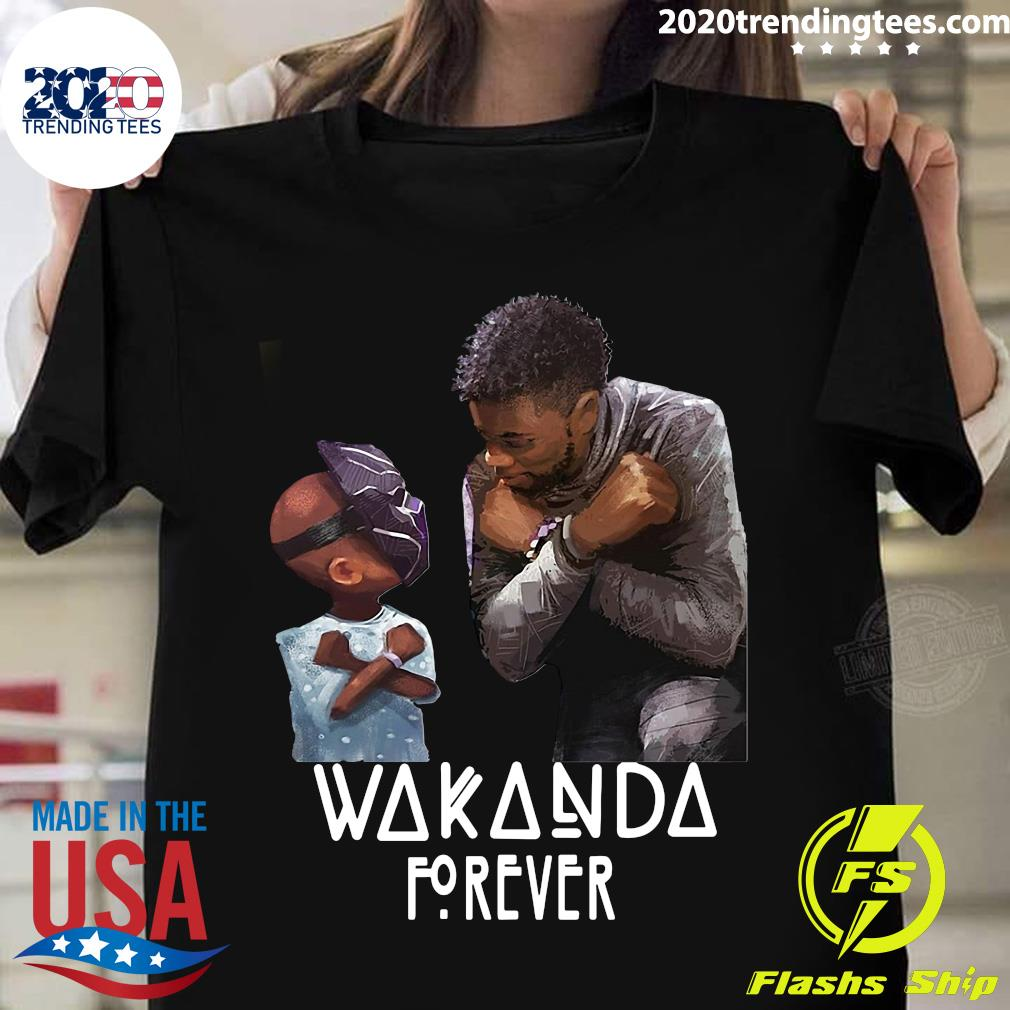 Rest In Power King Chadwick Boseman Black Panther Wakanda Forever Shirt
