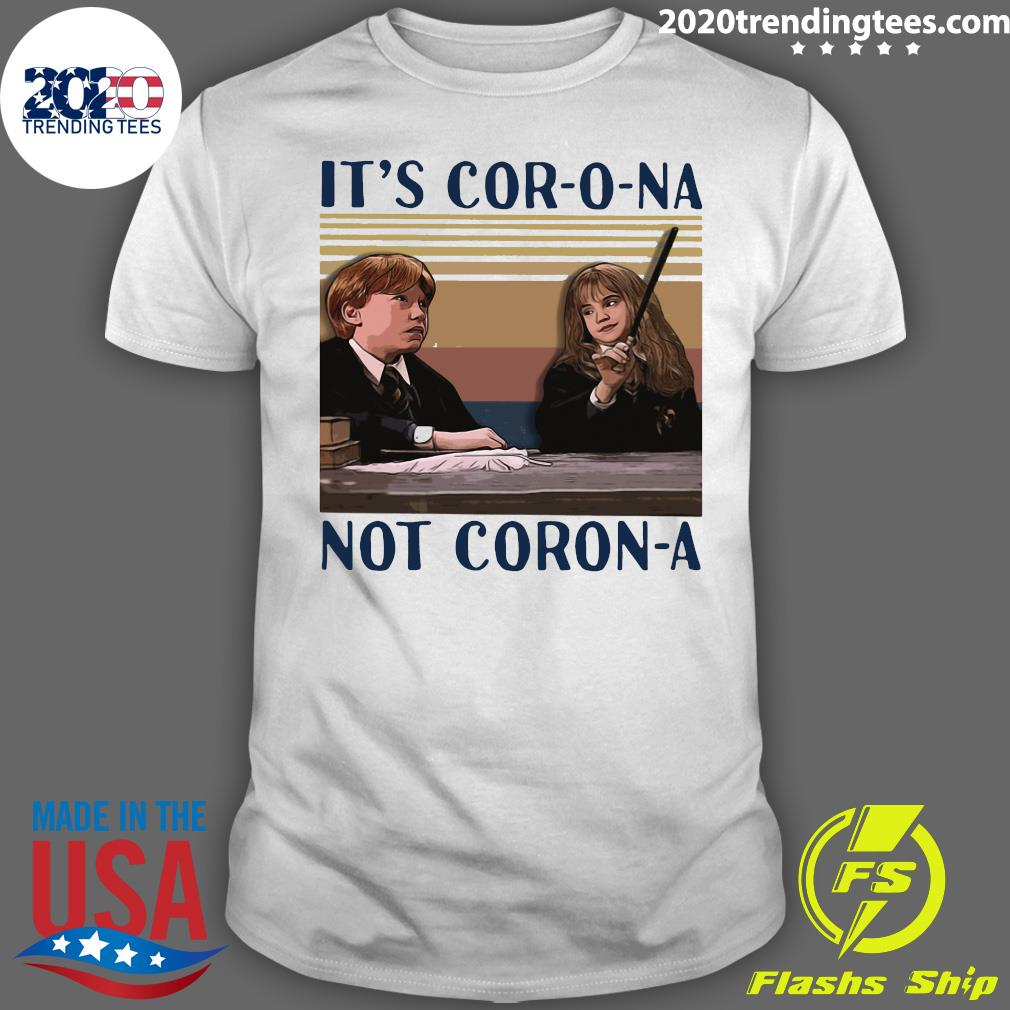 Ron Weasley And Hermione Granger It's Cor-o-na Not Coron-a Vintage Shirt