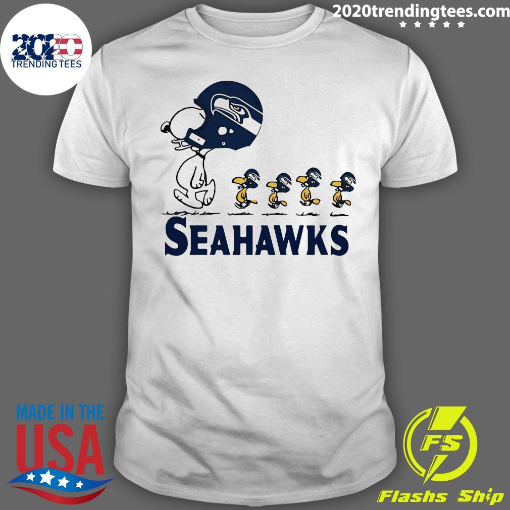 Snoopy Seattle Seahawks Woodstock Shirt