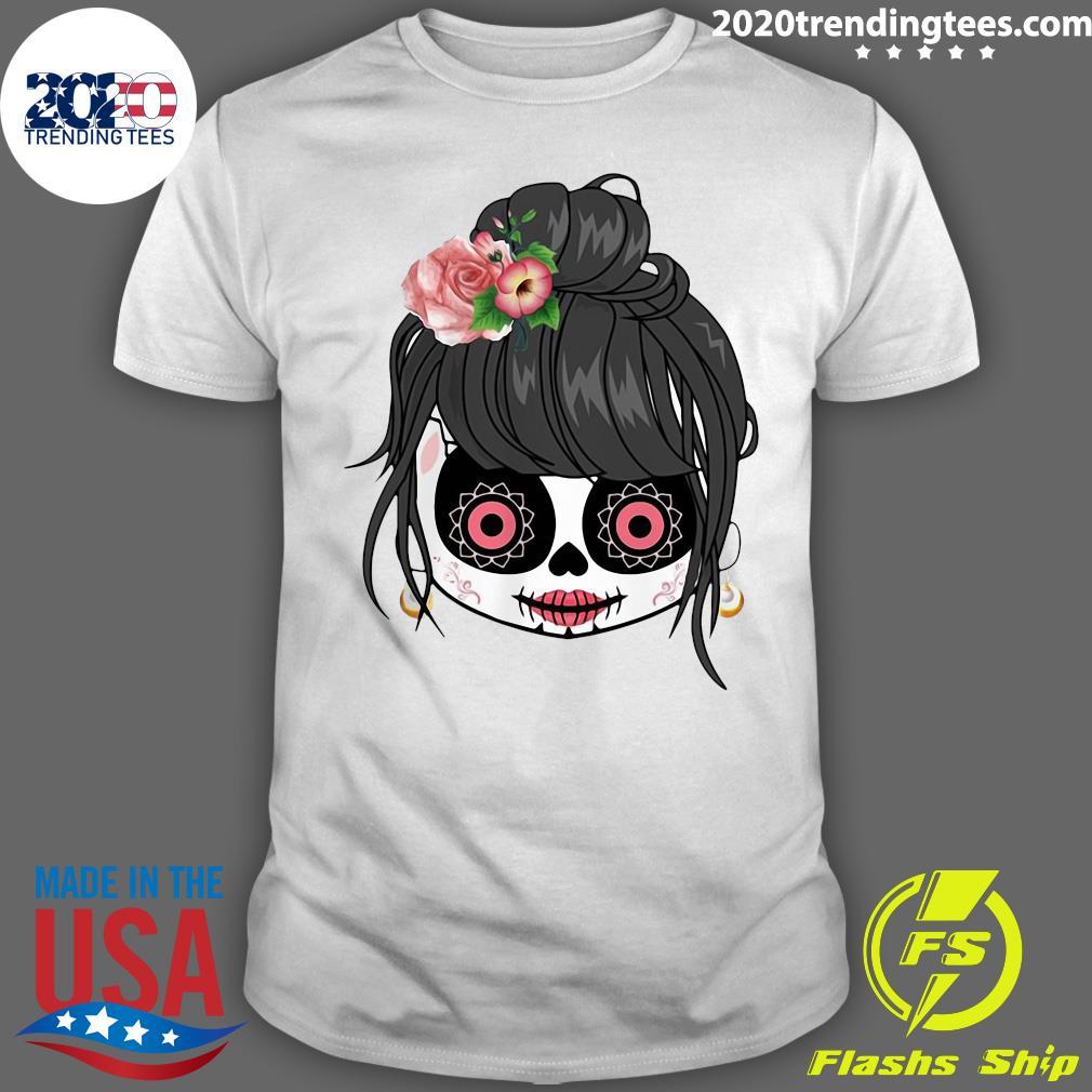 Sugar Skull Cute Girl Day Of The Dead Shirt