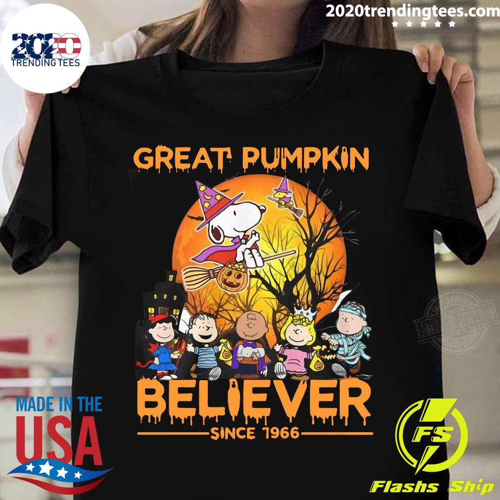 The Peanuts Snoopy Great Pumpkin Believer Since 1966 Shirt