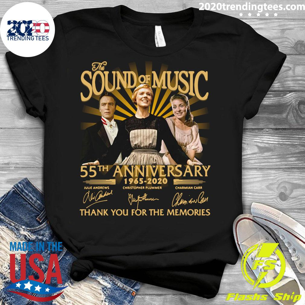 The Sound Of Music 55th Anniversary 1965 2020 Signatures Thank You For The Memories Shirt Ladies tee