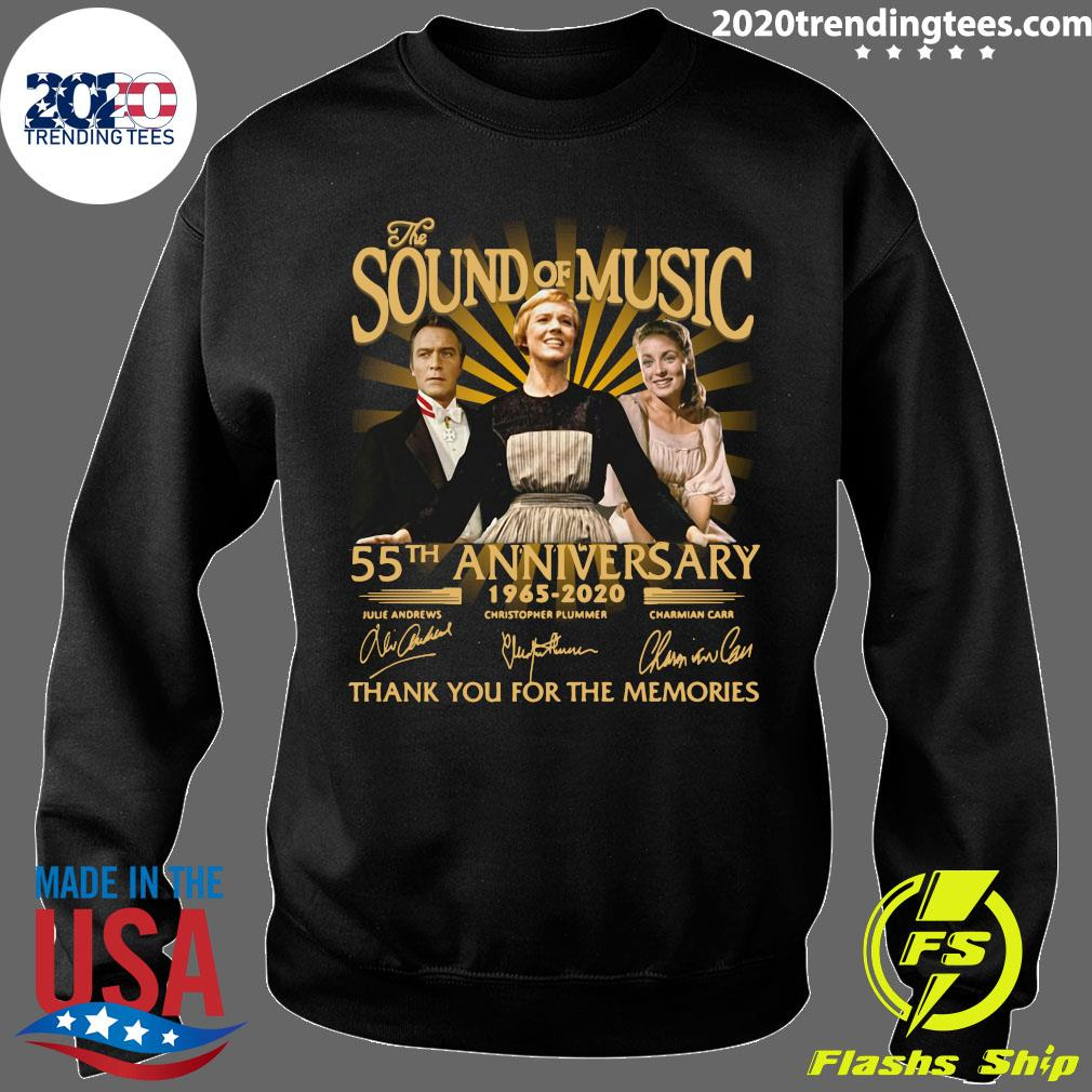 The Sound Of Music 55th Anniversary 1965 2020 Signatures Thank You For The Memories Shirt Sweater