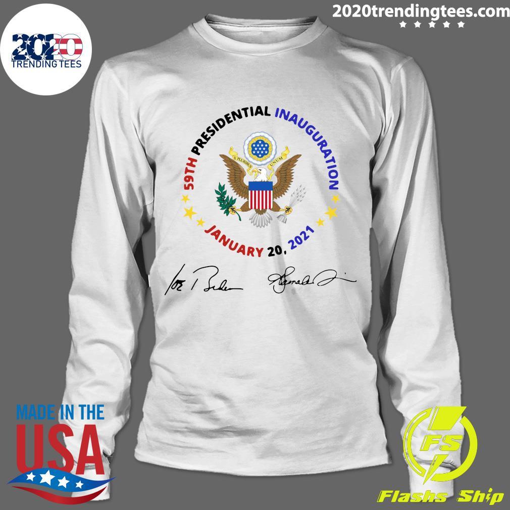 59th Presidential Inauguration January 20 2021 Joe Biden Kamala Harris Signatures Shirt Longsleeve