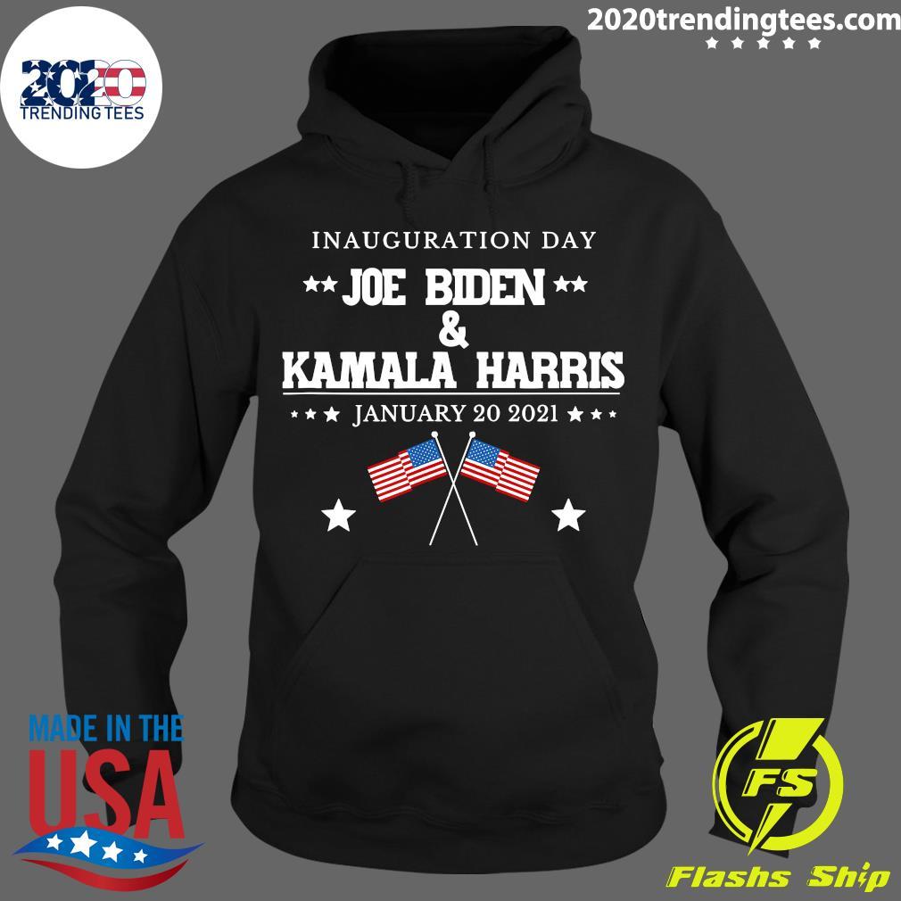 American Flag Joe Biden And Kamala Harris Inauguration Day January 20 2021 Shirt Hoodie