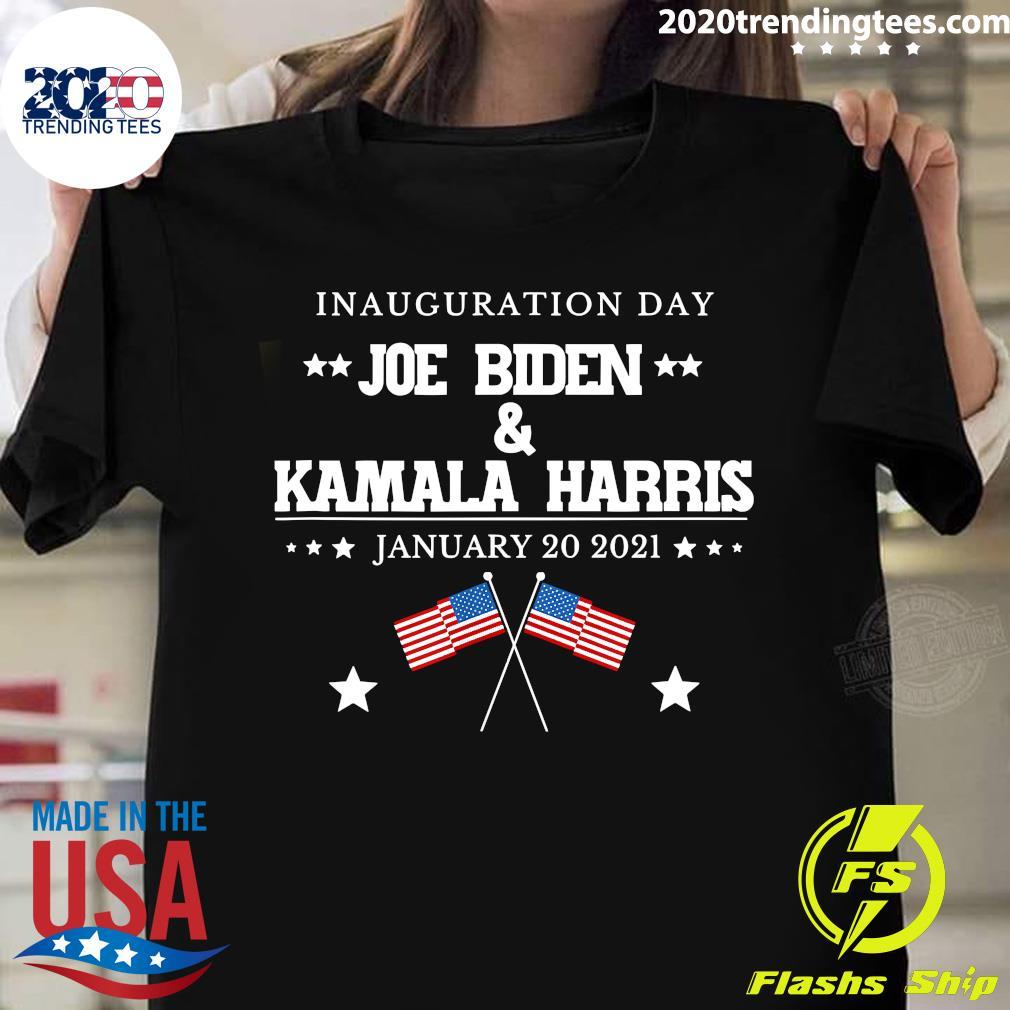 American Flag Joe Biden And Kamala Harris Inauguration Day January 20 2021 Shirt