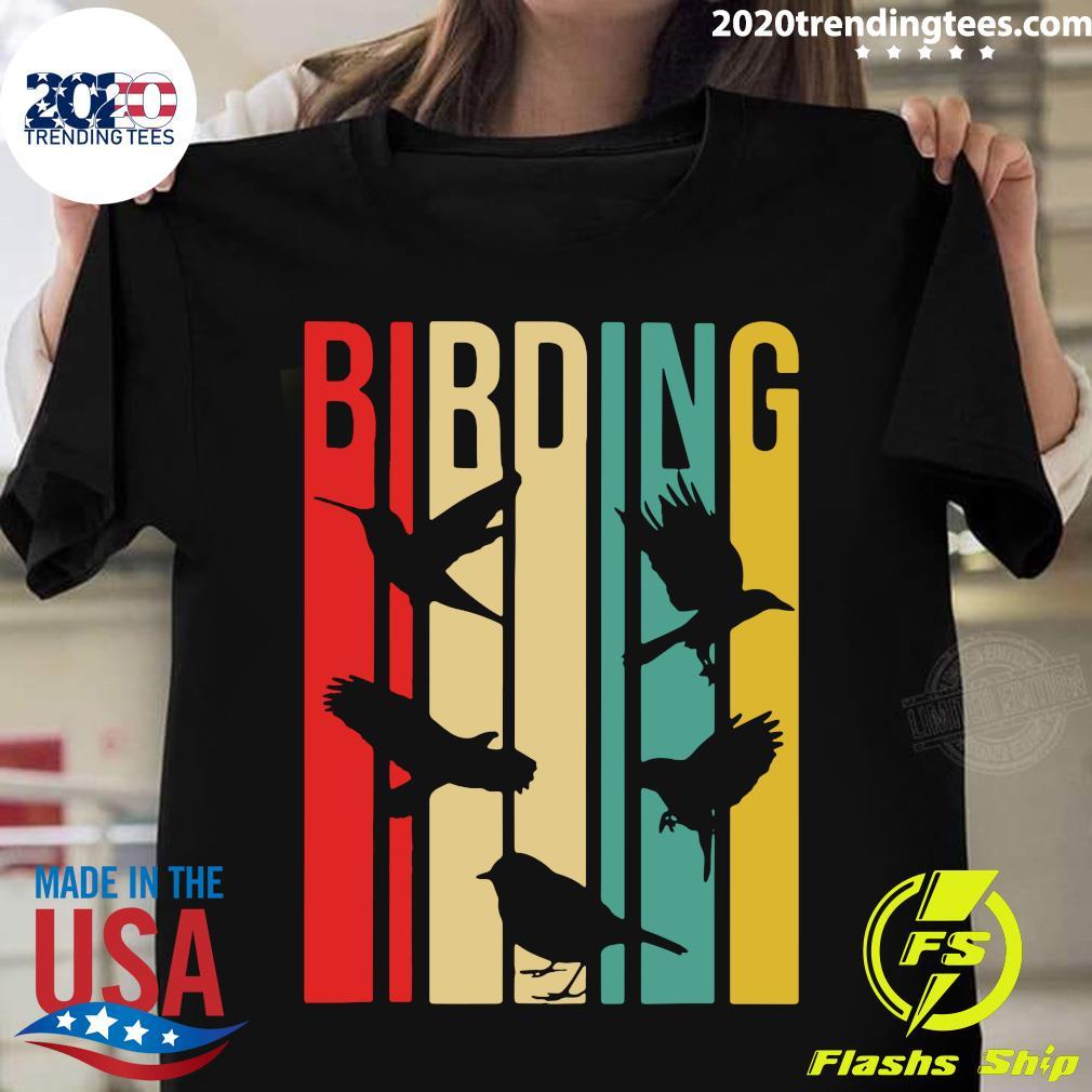 Bird Watching Birding Vintage Shirt
