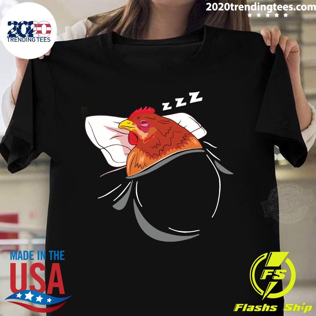 Chicken Sleeping Pajamas Nap Farmer Gift Shirt