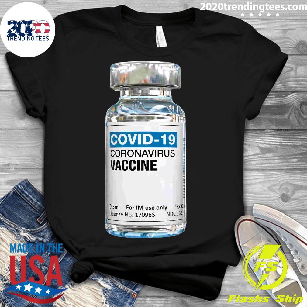 COVID-19 Coronavirus Vaccine Bottle Shirt Ladies tee