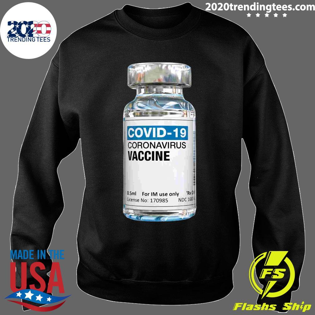 COVID-19 Coronavirus Vaccine Bottle Shirt Sweater