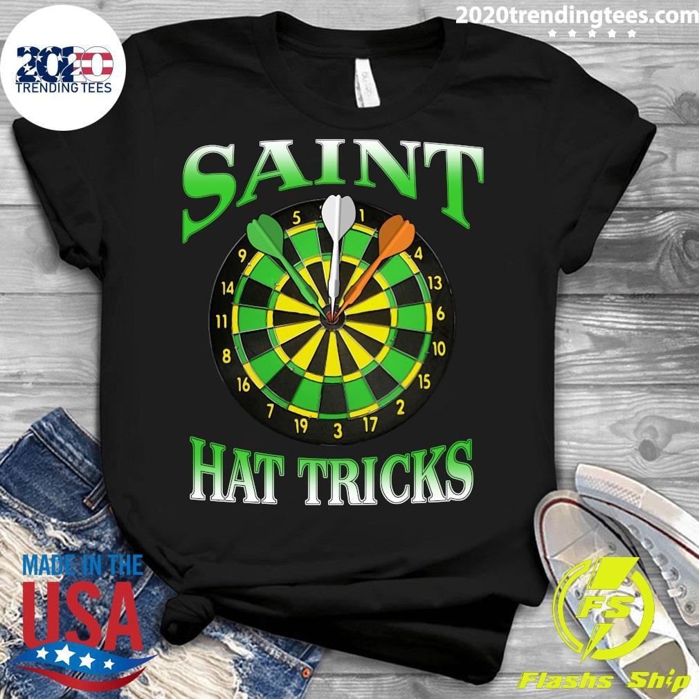 Darts Saint Hat Trick Irish St Patrick's Day Shirt Ladies tee