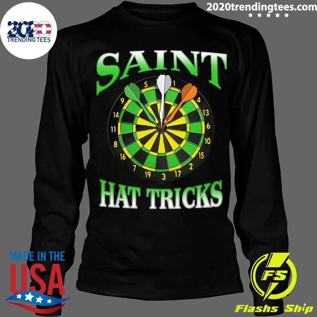 Darts Saint Hat Trick Irish St Patrick's Day Shirt Longsleeve