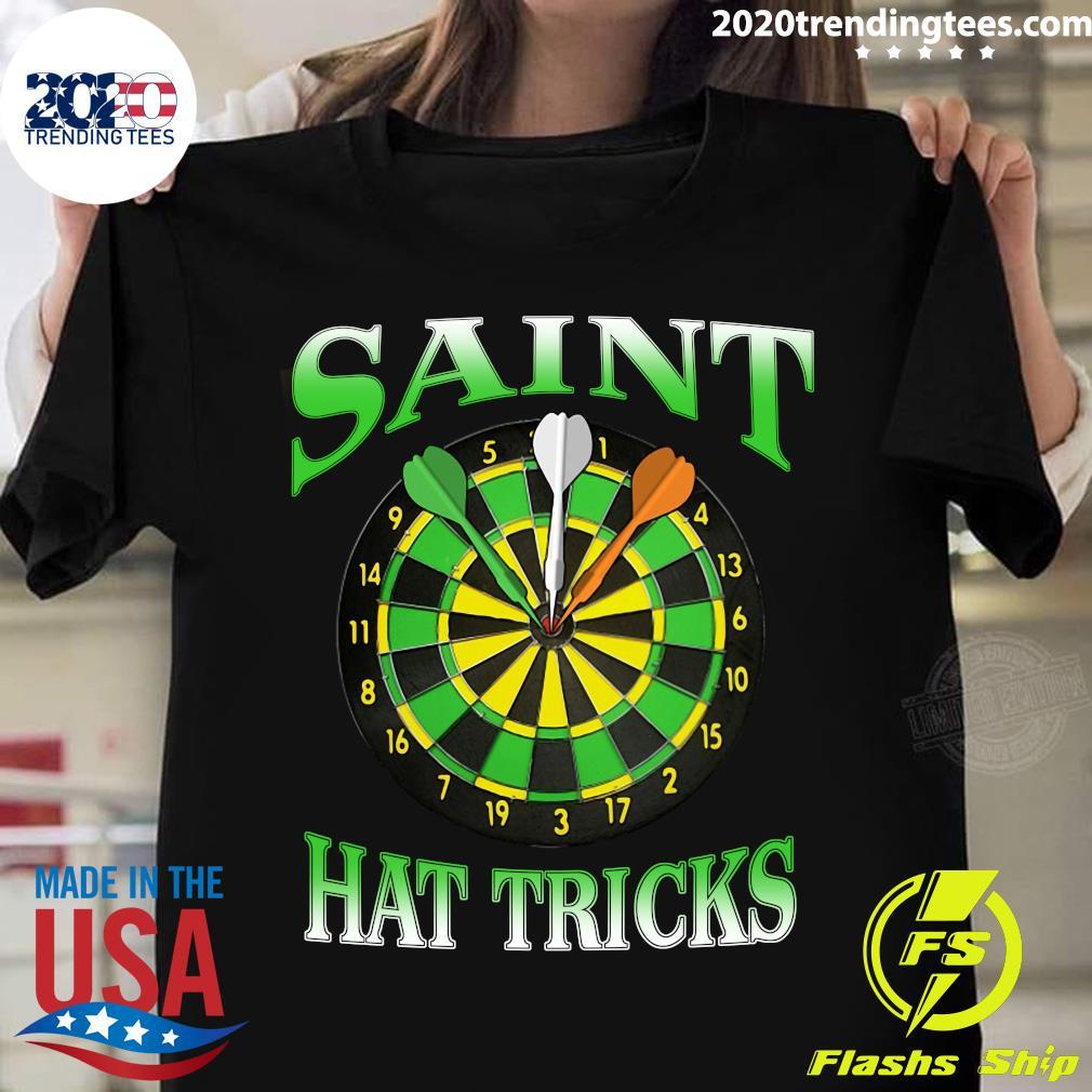 Darts Saint Hat Trick Irish St Patrick's Day Shirt