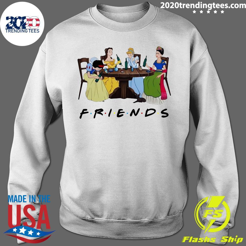 Frida Kahlo And Disney Princesses Drinking Friends Tv Show Funny Shirt Sweater