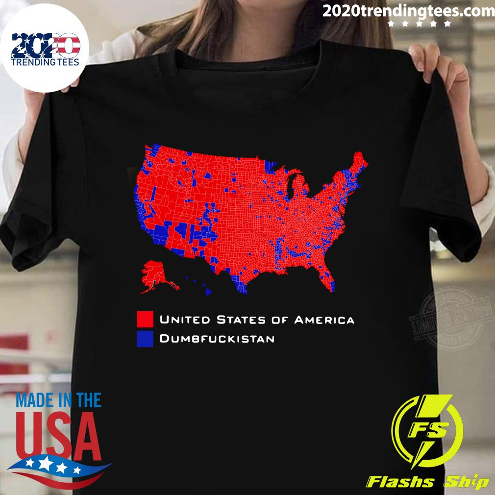 Funny United States Of America Dumbfuckistan Map Shirt