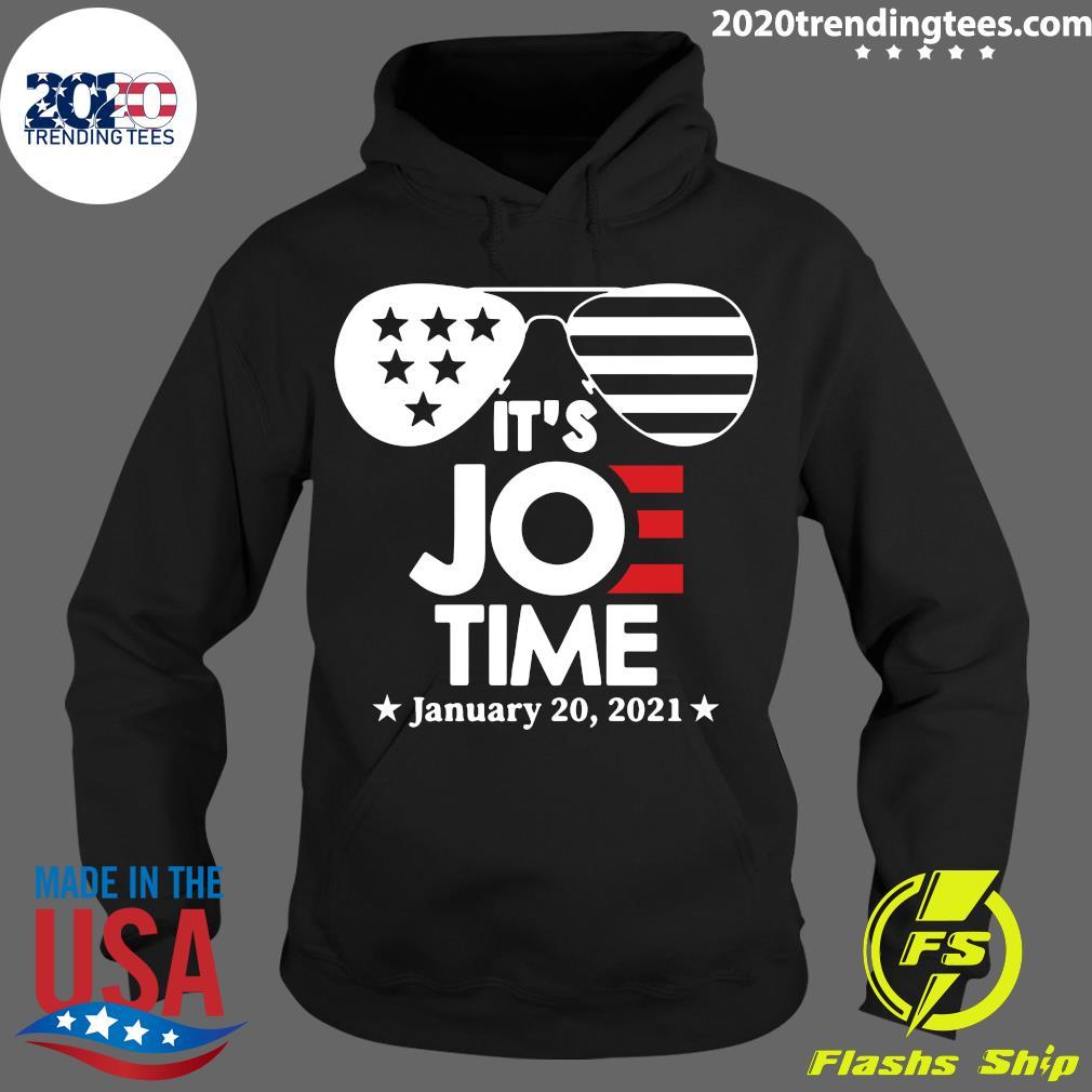 Glasses Us Flag Its Joe Time January 20 2021 Shirt Hoodie