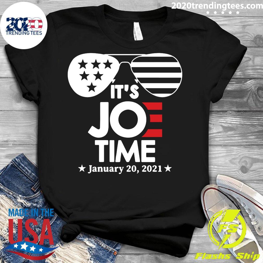 Glasses Us Flag Its Joe Time January 20 2021 Shirt Ladies tee
