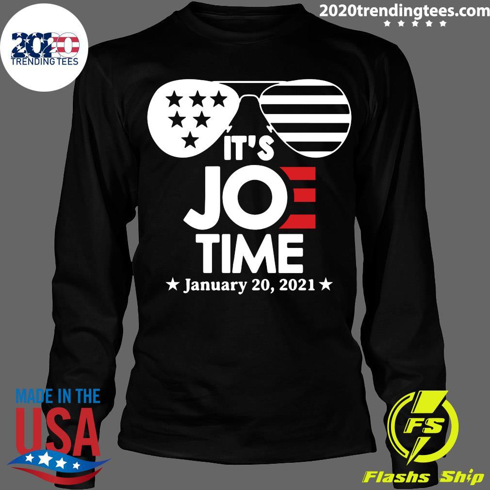 Glasses Us Flag Its Joe Time January 20 2021 Shirt Longsleeve